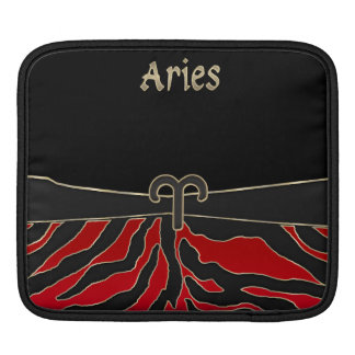 Fire Tiger Zodiac Sign Aries Sleeve For iPads