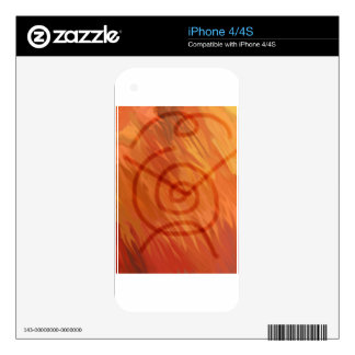 Fire Totem Decals For iPhone 4