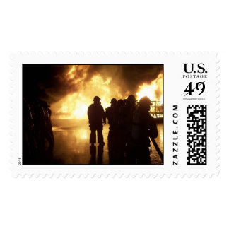 Fire Training Postage Stamps
