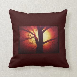 Fire Tree Throw Pillow