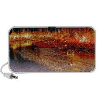 Fire Trees & Black Skies Laptop Speakers