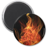 Fire Triangle 2 Inch Round Magnet