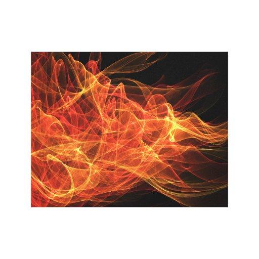 Fire Triangle Canvas Print