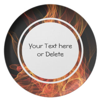Fire Triangle Dinner Plate