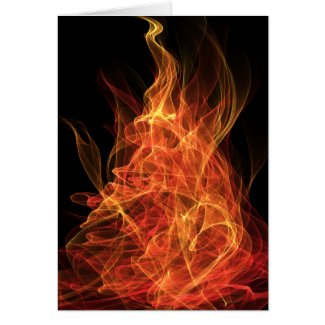 Fire Triangle Greeting Cards