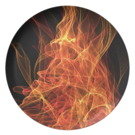 Fire Triangle Melamine Plate