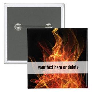 Fire Triangle Pinback Button