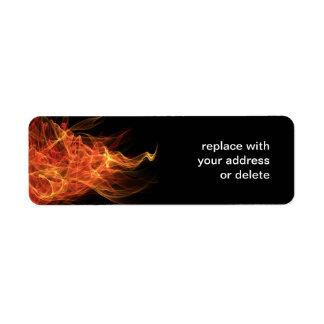 Fire Triangle Return Address Label