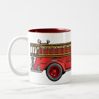 Fire Truck_01 Two-Tone Coffee Mug