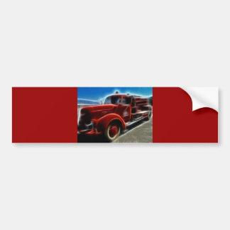 fire-truck-68276 DIGITAL REALISM HOT TRANSPORTTION Bumper Sticker