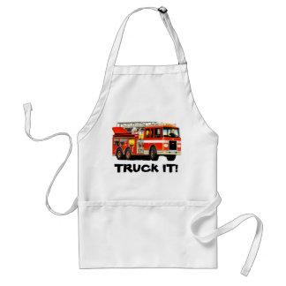 Fire Truck Adult Apron