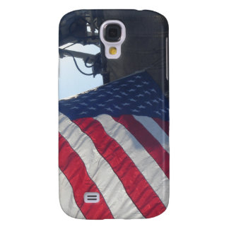 Fire Truck American Flag Aerial Tower Galaxy S4 Case