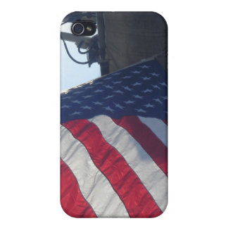 Fire Truck American Flag Aerial Tower iPhone 4/4S Covers