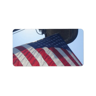 Fire Truck American Flag Aerial Tower Label