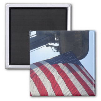 Fire Truck American Flag Aerial Tower Magnet