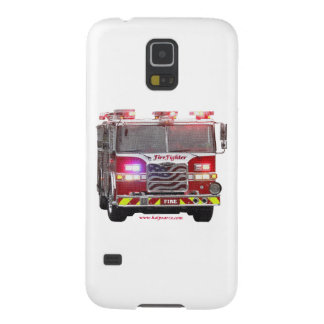 Fire_Truck_American_Flag Galaxy S5 Cases