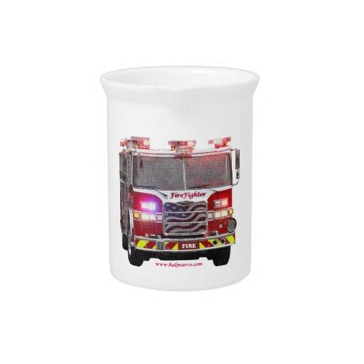 Fire_Truck_American_Flag Jarra De Beber
