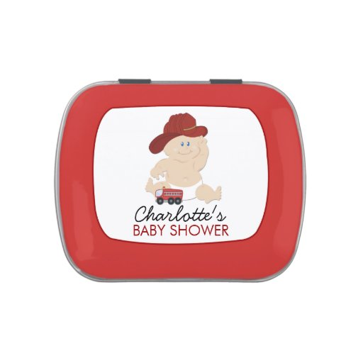 Fire Truck Baby Firefighter Candy Tin Favor