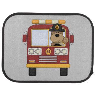 Fire Truck Bear Car Mat