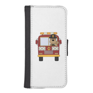 Fire Truck Bear iPhone SE/5/5s Wallet