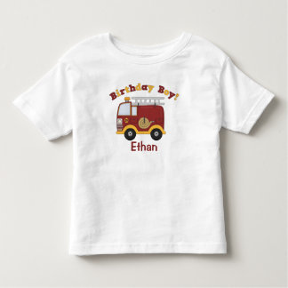 Fire Truck Birthday Kids Personalized Toddler T-shirt