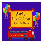 Fire Truck Birthday Party Invitation Invites