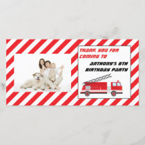 Fire Truck Birthday Party Thank You