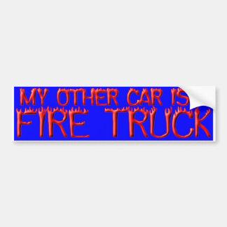 FIRE TRUCK BUMPER STICKER