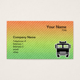 Fire Truck Business Card