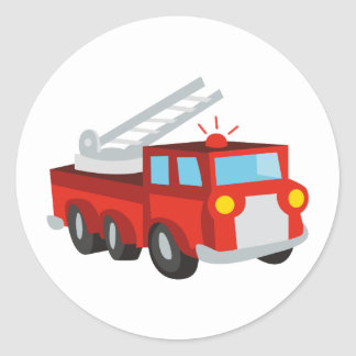Fire Truck Classic Round Sticker