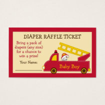 Fire Truck Diaper Raffle Tickets