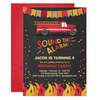 Firefighter Invitations Announcements Zazzle