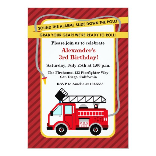 Fire Truck Invitation Template was great invitation layout