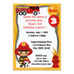 Fire Truck Firefighter Dalmatian Birthday FF02B Card