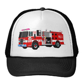 FIRE TRUCK TRUCKER HATS