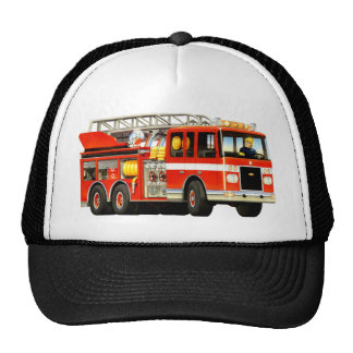 Fire Truck Hat Mesh Hats