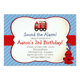 FIRE TRUCK Invitation - Kids Birthday 5