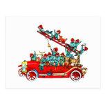 Fire Truck Kids Postcard