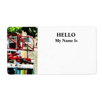 Fire Truck Ladder Label