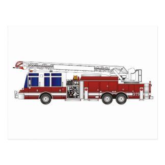 Fire Truck Ladder Postcards