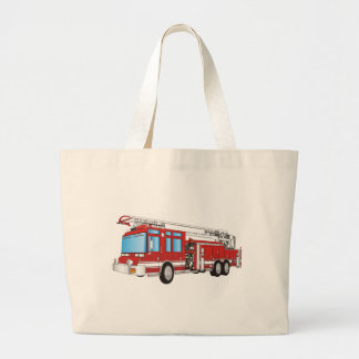 Fire Truck Large Tote Bag