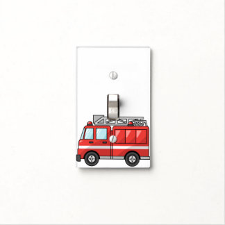 Fire Truck Light Switch Cover