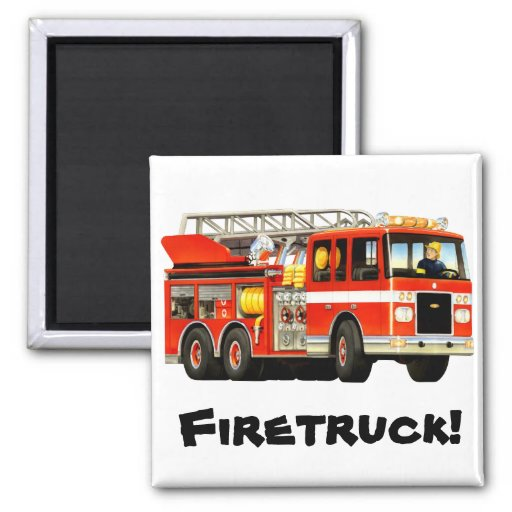 Fire Truck Magnet Fridge Magnets
