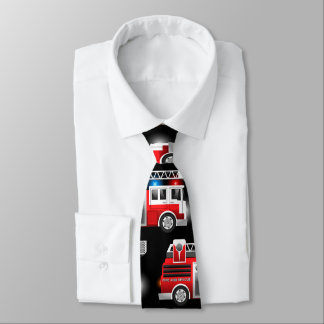 Fire truck neck tie