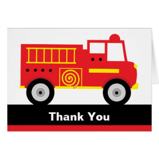 Fire Truck Note Cards Card