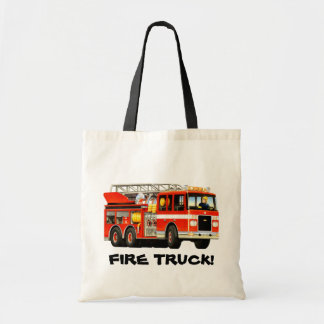 Fire Truck Party Tote Bag