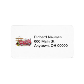 Fire Truck Pedal Car Address Label