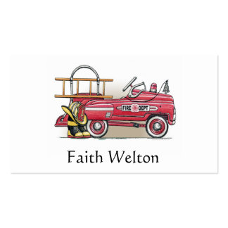 Fire Truck Pedal Car Business Cards