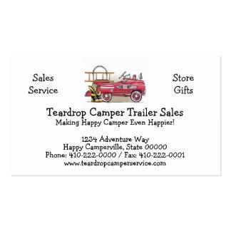 Fire Truck Pedal Car Business Card Template