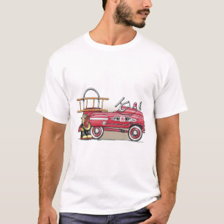 Fire Truck Pedal Car Ladies T-Shirt